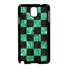 Square1 Black Marble & Green Marble Samsung Galaxy Note 3 Neo Hardshell Case (black)