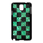 SQUARE1 BLACK MARBLE & GREEN MARBLE Samsung Galaxy Note 3 Neo Hardshell Case (Black) Front