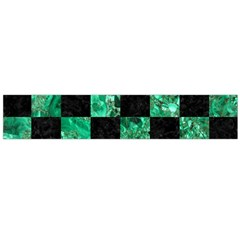 Square1 Black Marble & Green Marble Flano Scarf (large)