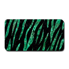 Skin3 Black Marble & Green Marble (r) Medium Bar Mat