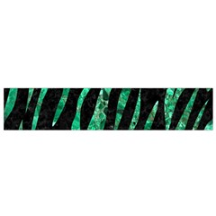 Skin3 Black Marble & Green Marble (r) Flano Scarf (small)