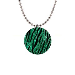 Skin3 Black Marble & Green Marble 1  Button Necklace