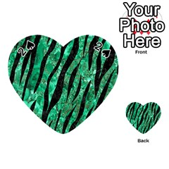 Skin3 Black Marble & Green Marble Playing Cards 54 (heart)