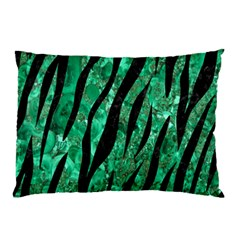 Skin3 Black Marble & Green Marble Pillow Case (two Sides)