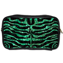 Skin2 Black Marble & Green Marble (r) Toiletries Bag (one Side)
