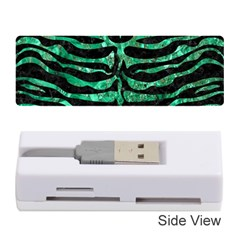 Skin2 Black Marble & Green Marble (r) Memory Card Reader (stick)