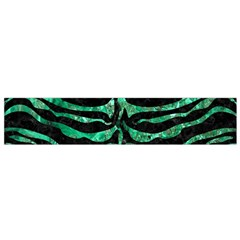 Skin2 Black Marble & Green Marble (r) Flano Scarf (small)