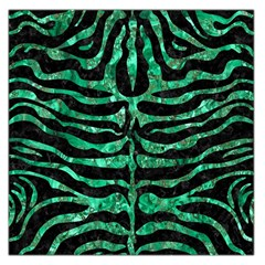 Skin2 Black Marble & Green Marble (r) Large Satin Scarf (square)