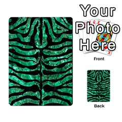 Skin2 Black Marble & Green Marble Multi Purpose Cards (rectangle)
