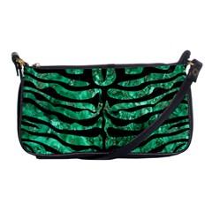 Skin2 Black Marble & Green Marble Shoulder Clutch Bag