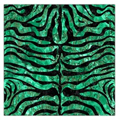 Skin2 Black Marble & Green Marble Large Satin Scarf (square)