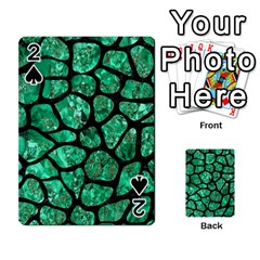 Skin1 Black Marble & Green Marble (r) Playing Cards 54 Designs