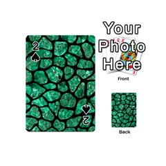 Skin1 Black Marble & Green Marble (r) Playing Cards 54 (mini)