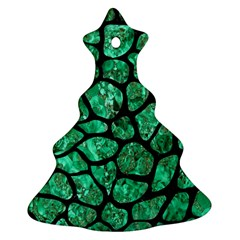 Skin1 Black Marble & Green Marble (r) Christmas Tree Ornament (two Sides)