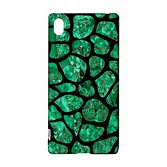 Skin1 Black Marble & Green Marble (r) Sony Xperia Z3+ Hardshell Case