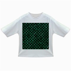 Scales3 Black Marble & Green Marble (r) Infant/toddler T Shirt