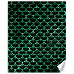 Scales3 Black Marble & Green Marble (r) Canvas 16  X 20