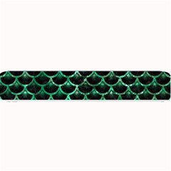 Scales3 Black Marble & Green Marble (r) Small Bar Mat