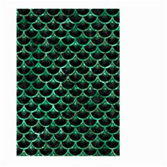 Scales3 Black Marble & Green Marble (r) Large Garden Flag (two Sides)