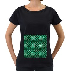 Scales3 Black Marble & Green Marble Women s Loose Fit T Shirt (black)