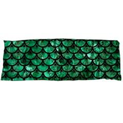 Scales3 Black Marble & Green Marble Body Pillow Case (dakimakura)