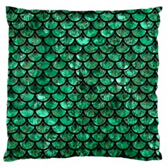 Scales3 Black Marble & Green Marble Standard Flano Cushion Case (one Side)