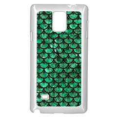 Scales3 Black Marble & Green Marble Samsung Galaxy Note 4 Case (white)