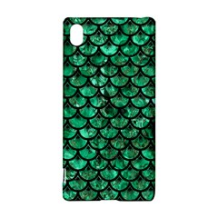 Scales3 Black Marble & Green Marble Sony Xperia Z3+ Hardshell Case