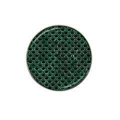 Scales2 Black Marble & Green Marble (r) Hat Clip Ball Marker (10 Pack)