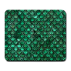 Scales2 Black Marble & Green Marble Large Mousepad