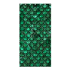 Scales2 Black Marble & Green Marble Shower Curtain 36  X 72  (stall)