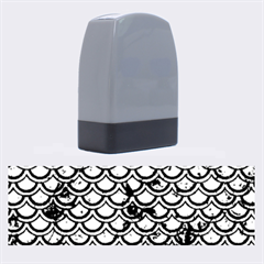SCA2 BK-GR MARBLE Name Stamps