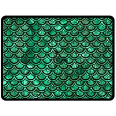 Scales2 Black Marble & Green Marble Double Sided Fleece Blanket (large)