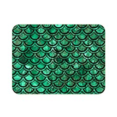 Scales2 Black Marble & Green Marble Double Sided Flano Blanket (mini)