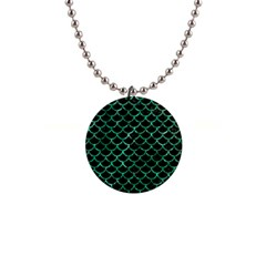 Scales1 Black Marble & Green Marble (r) 1  Button Necklace
