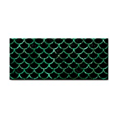 Scales1 Black Marble & Green Marble (r) Hand Towel