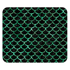 Scales1 Black Marble & Green Marble (r) Double Sided Flano Blanket (small)