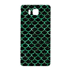 Scales1 Black Marble & Green Marble (r) Samsung Galaxy Alpha Hardshell Back Case