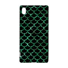 Scales1 Black Marble & Green Marble (r) Sony Xperia Z3+ Hardshell Case