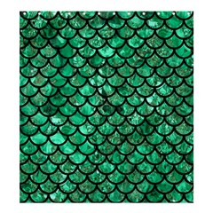 Scales1 Black Marble & Green Marble Shower Curtain 66  X 72  (large)