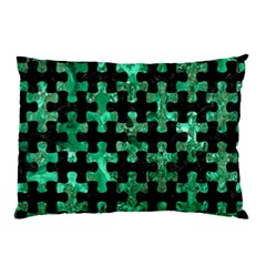 Puzzle1 Black Marble & Green Marble Pillow Case