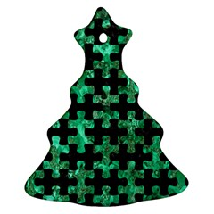 Puzzle1 Black Marble & Green Marble Ornament (christmas Tree)