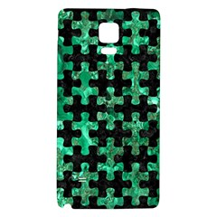 Puzzle1 Black Marble & Green Marble Samsung Note 4 Hardshell Back Case