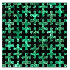 Puzzle1 Black Marble & Green Marble Large Satin Scarf (square)