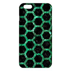Hexagon2 Black Marble & Green Marble (r) Iphone 6 Plus/6s Plus Tpu Case