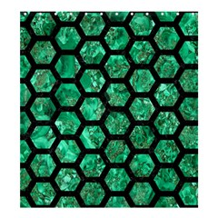 Hexagon2 Black Marble & Green Marble Shower Curtain 66  X 72  (large)