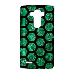 Hexagon2 Black Marble & Green Marble Lg G4 Hardshell Case
