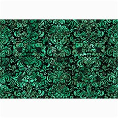 Damask2 Black Marble & Green Marble (r) Collage 12  X 18