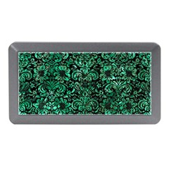 Damask2 Black Marble & Green Marble (r) Memory Card Reader (mini)