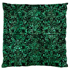 Damask2 Black Marble & Green Marble (r) Standard Flano Cushion Case (one Side)